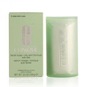 Clinique Facial Soap Oily Skin con Portasapone TIPO 3-4